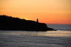 Boars Head Lighthouse at sunset