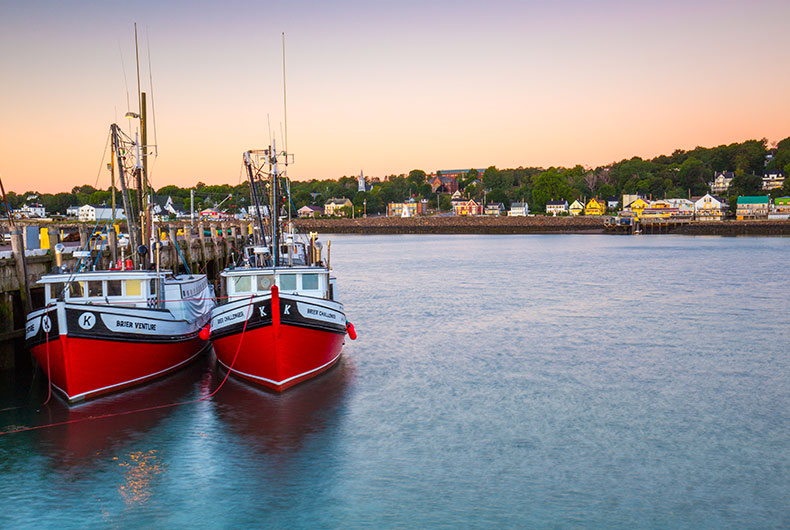 Red Boats at Digby Wharf