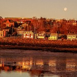 The town of Digby, situated along the Annapolis Basin